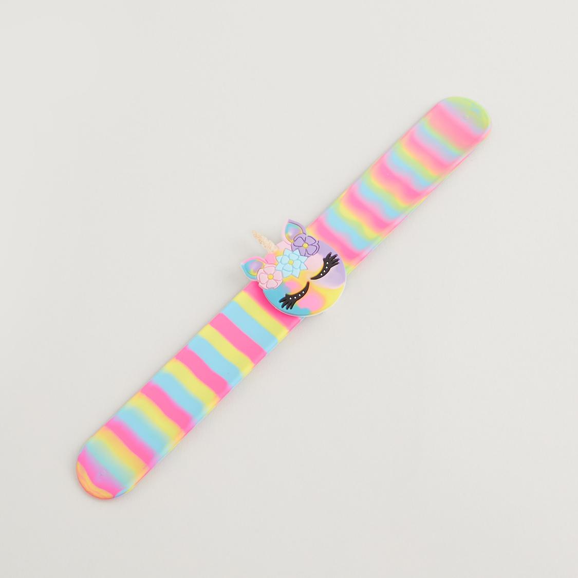 Striped Unicorn Snap Band