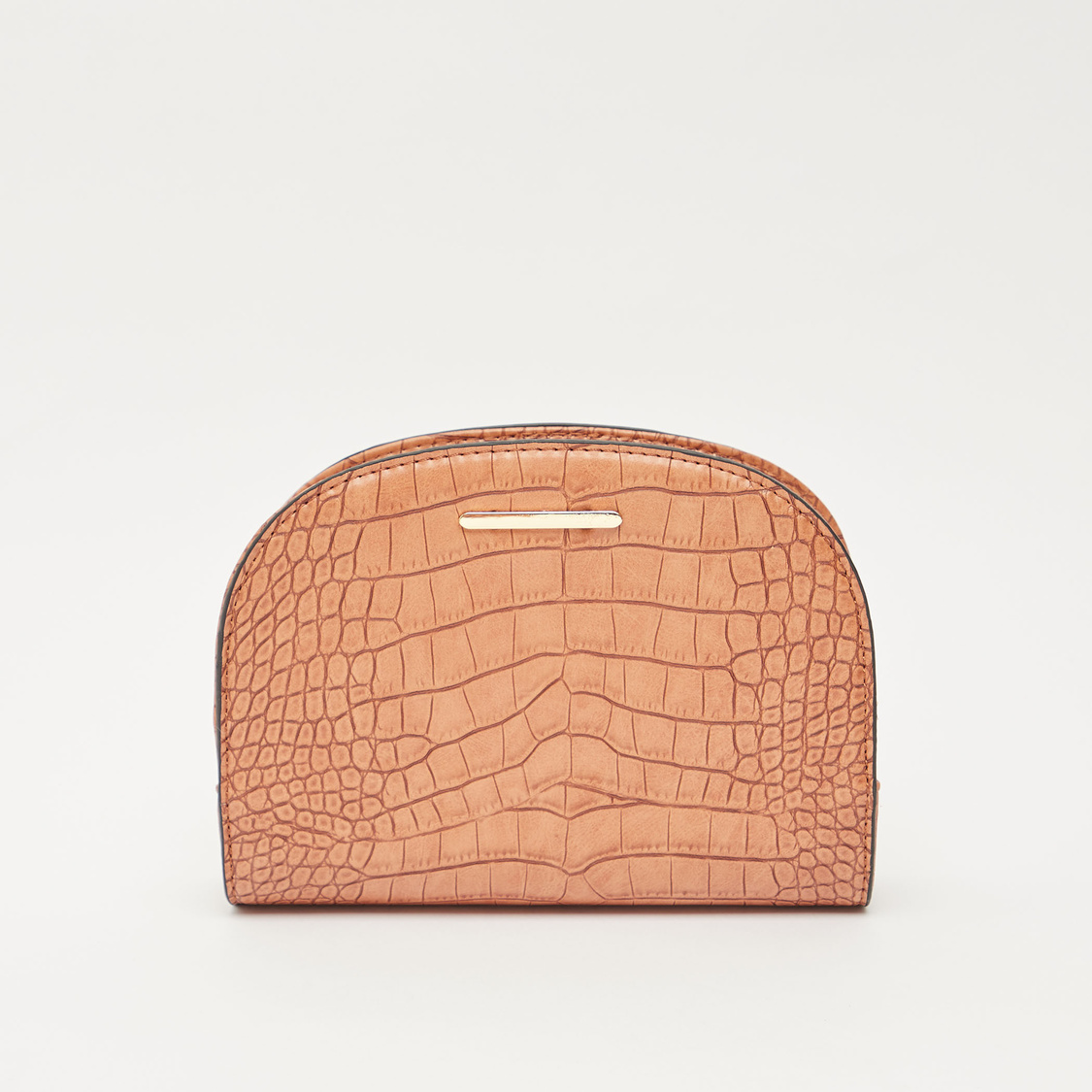 Textured Crossbody Bag with Adjustable Straps and Zip Closure