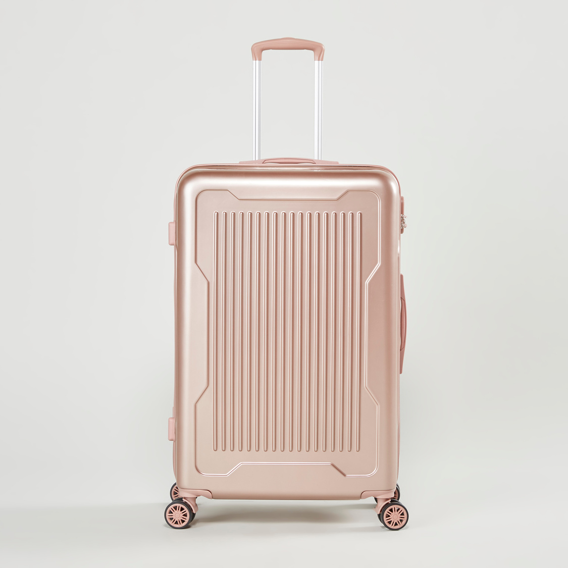 Textured Hard Case Trolley Bag with Swivel Wheels - 51x30x77 cms