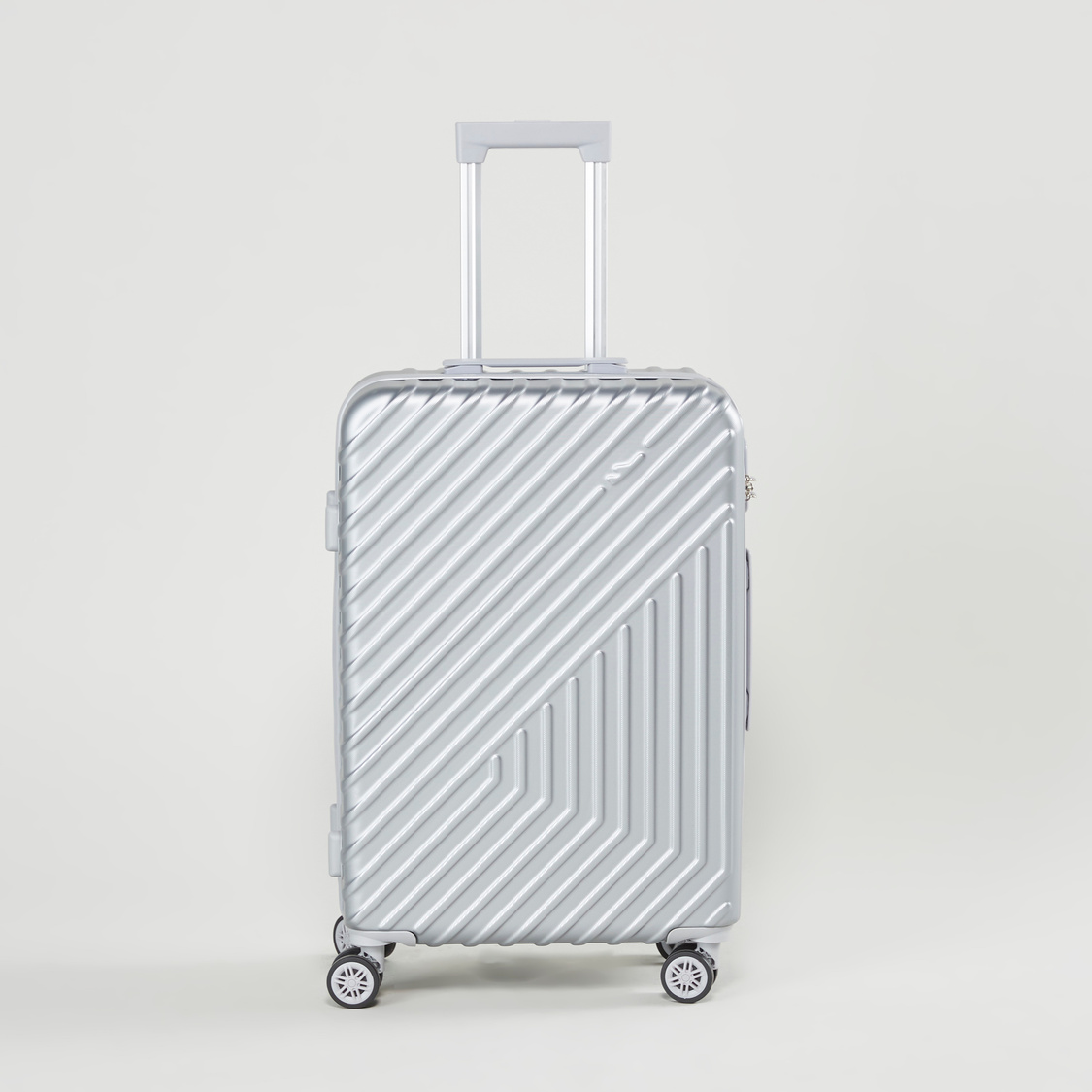 Textured Hard Case Luggage with Swivel Wheels - 43x26x66 cms