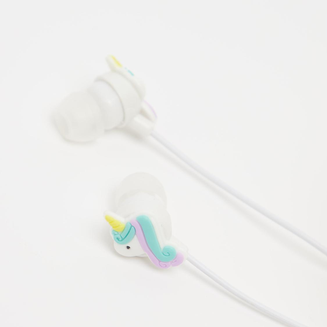 Unicorn Applique Detail Earphones with Pouch