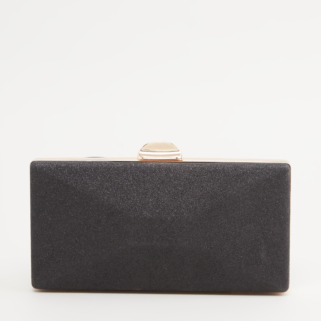 Embellished Clutch with Metallic Chain