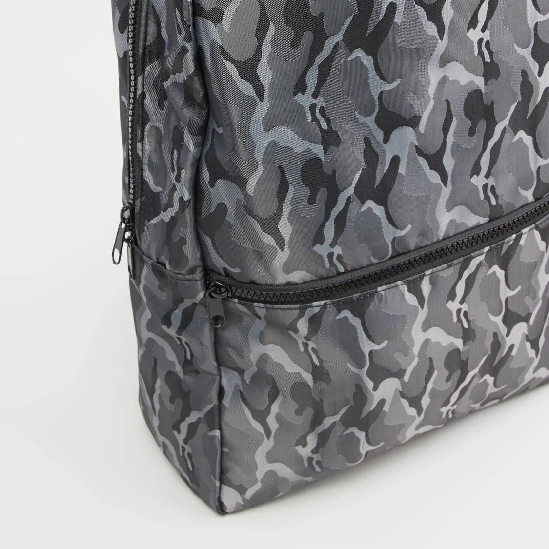 Printed Backpack with Adjustable Shoulder Straps and Top Handle