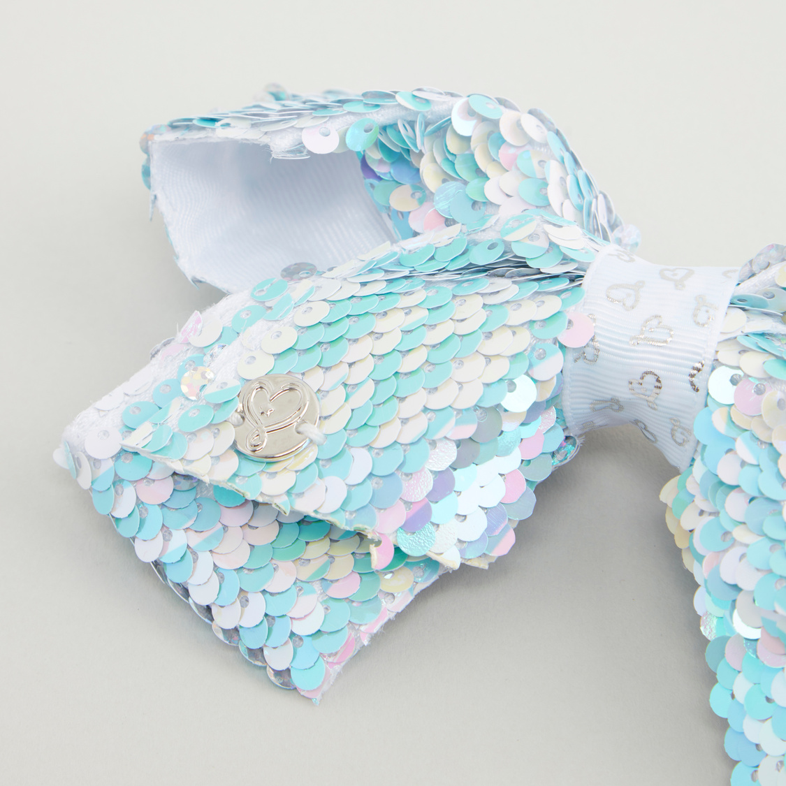Sequin and Bow Applique Detail Hairpin