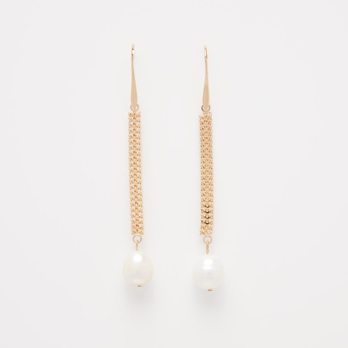 Fish Hook Long Dangler Earrings