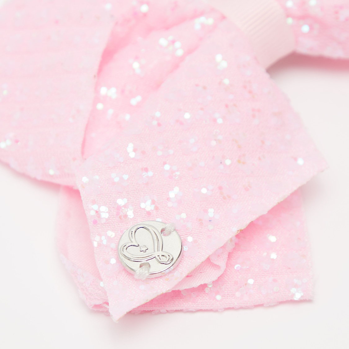 Bow Applique Hairpin with Sequins