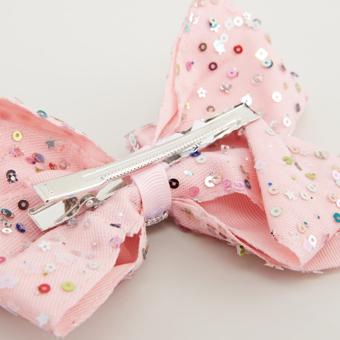 Bow Shaped Hair Clip with Sequin Detail