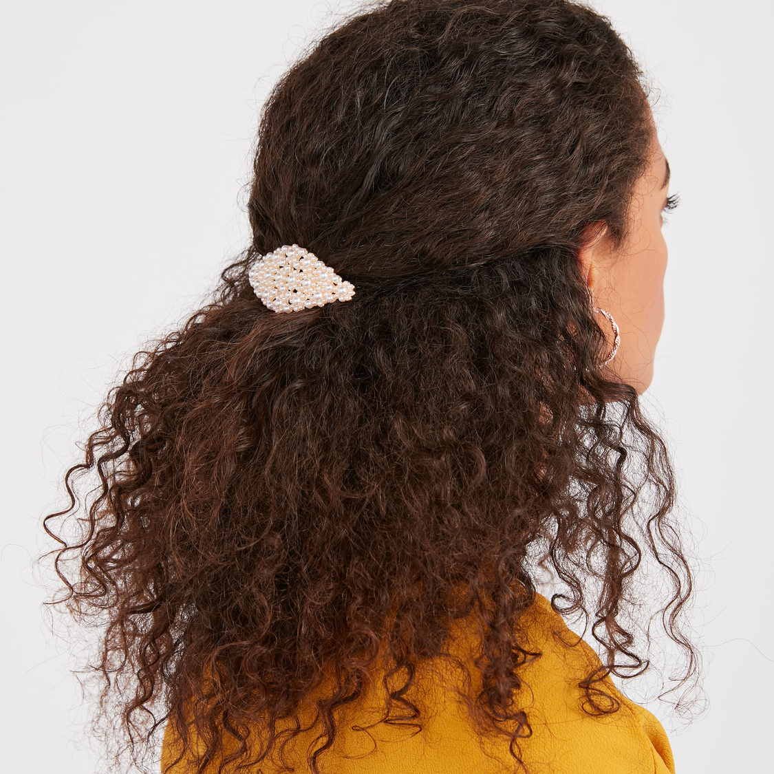 Set of 3 Bead Embellished Hair Clips