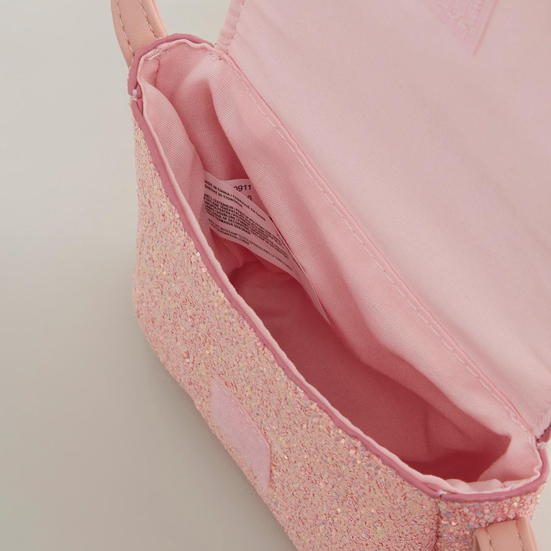 Embellished Satchel Bag with Bow Applique