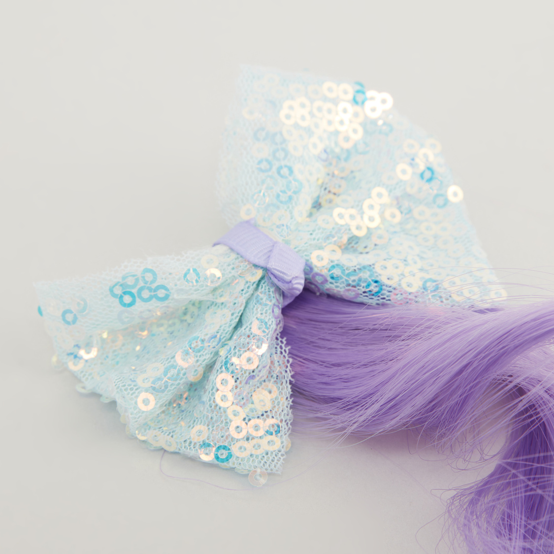 Sequin Embellished Hair Clip with Hair Extension