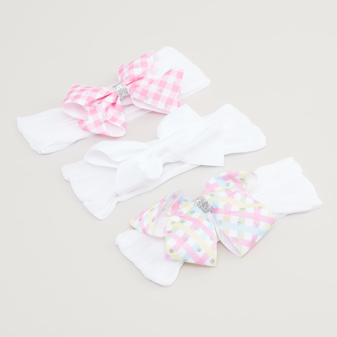 Set of 3 - Bow Detail Headband