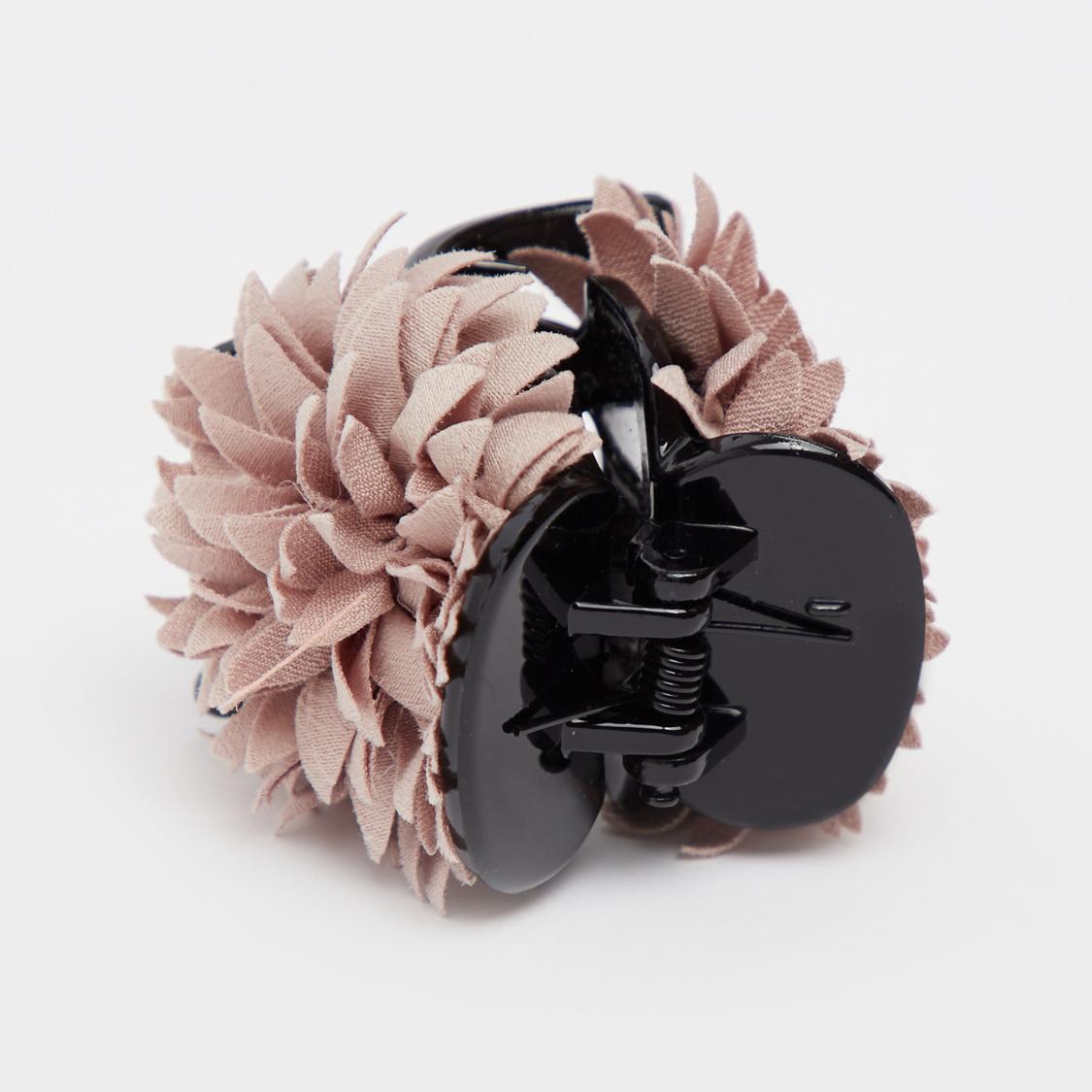 Floral Applique Hair Clamp