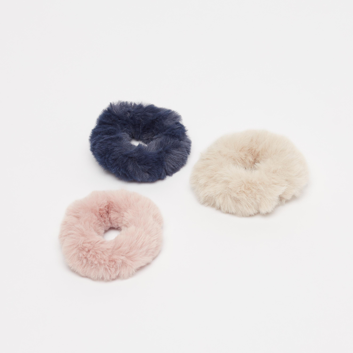 Set of 3 - Plush Detail Elastic Round Bands