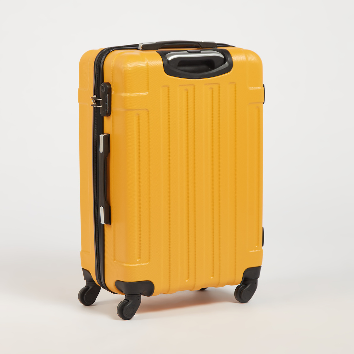 Textured Hardside Trolley Suitcase with Retractable Handle