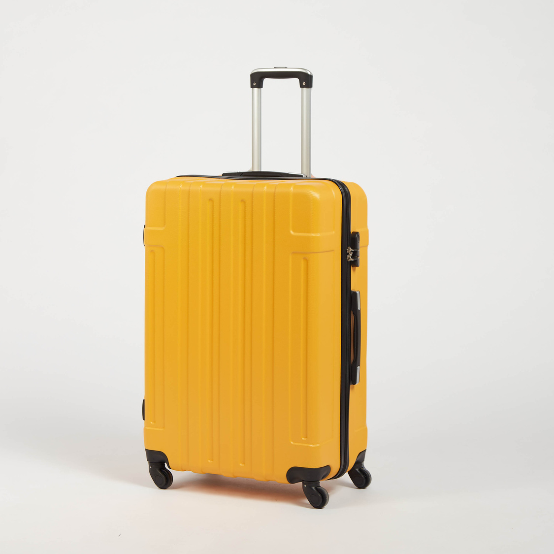 Solid Hardside Trolley Suitcase with Retractable Handle