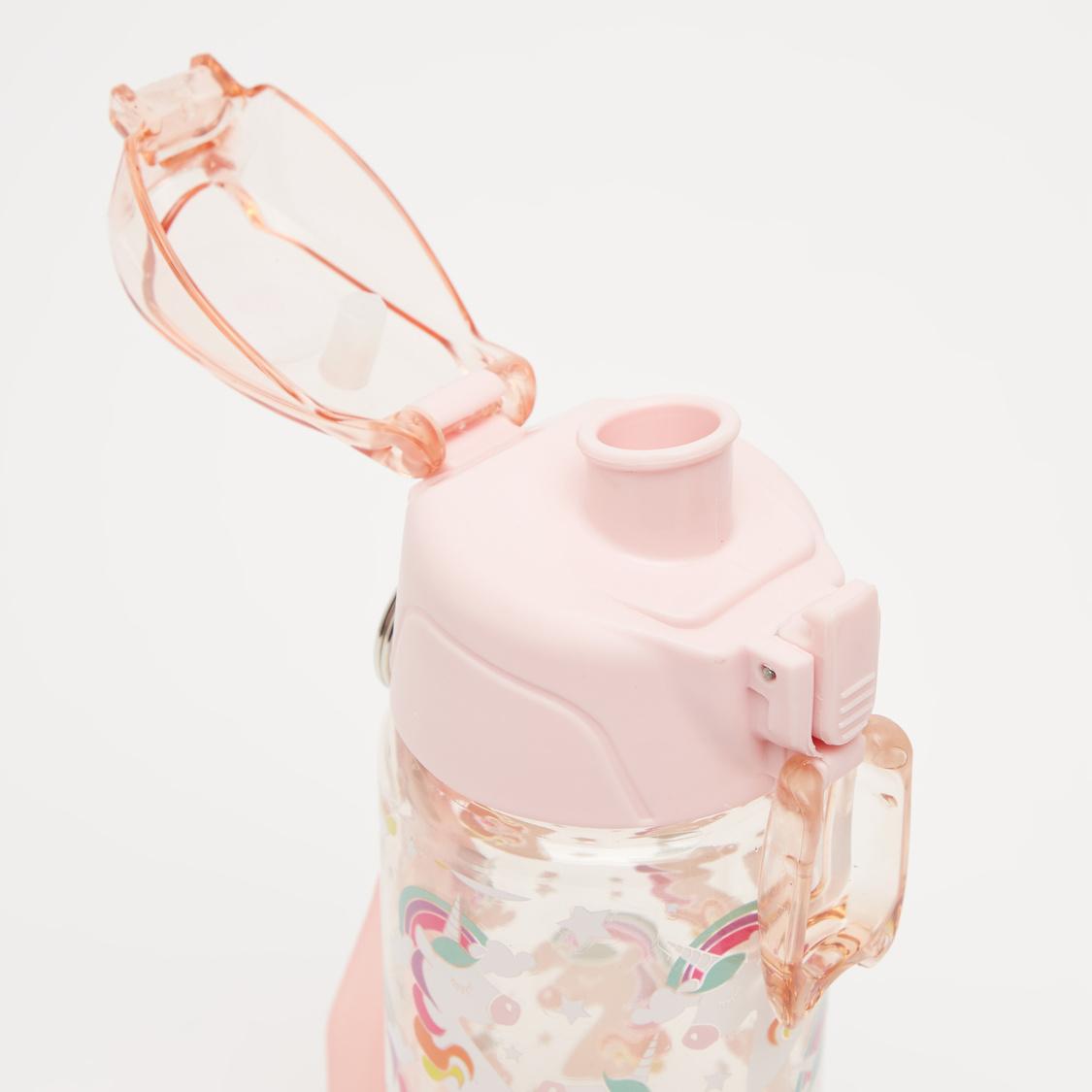 قارورة مياه بطبعات يونيكورن وصنبور وسوار - 550 مل