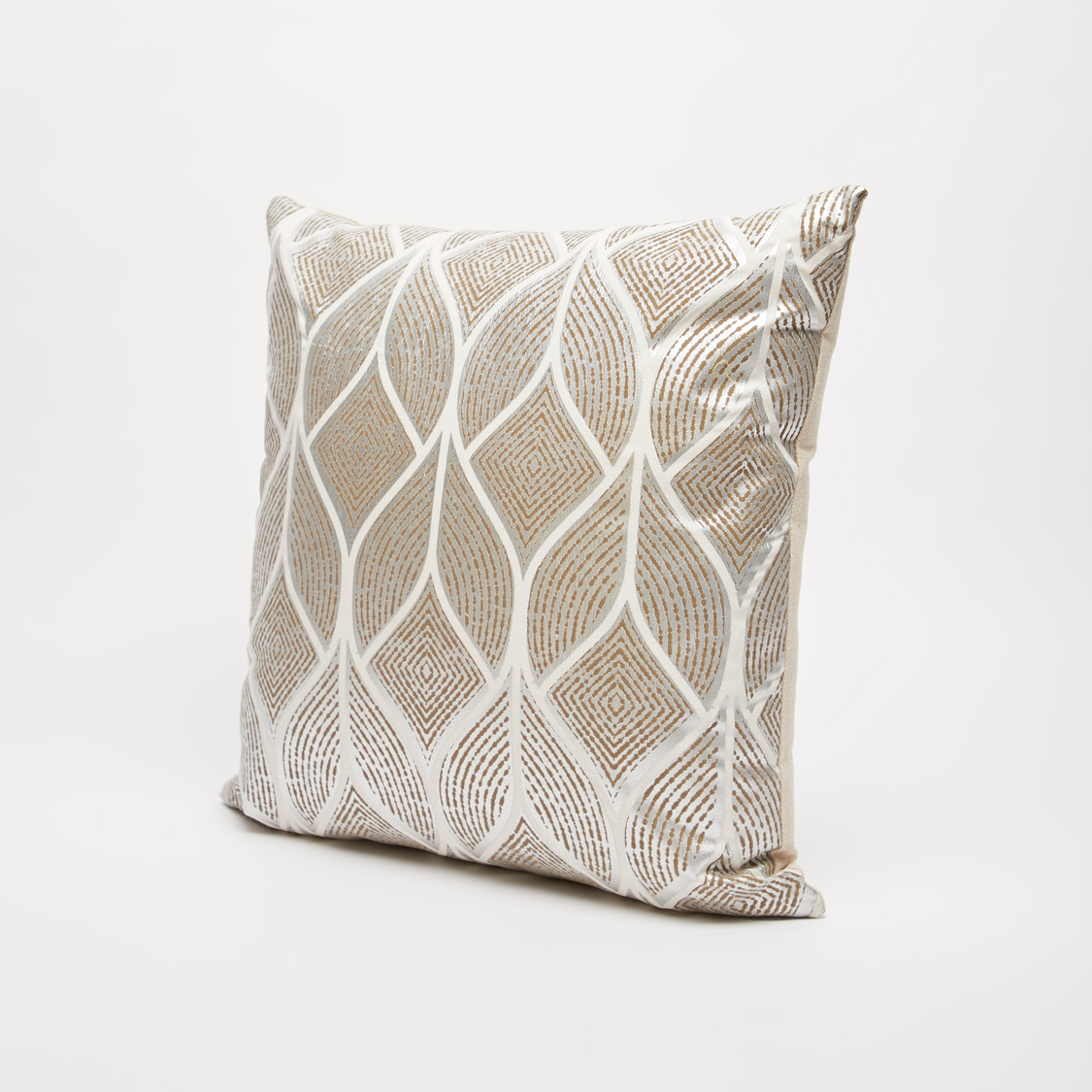 Foil Print Filled Cushion - 45x45 cms