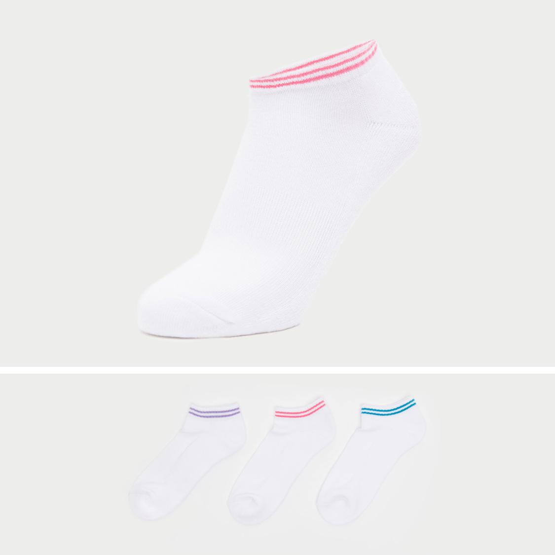 Set of 3 - Textured Half Terry Socks