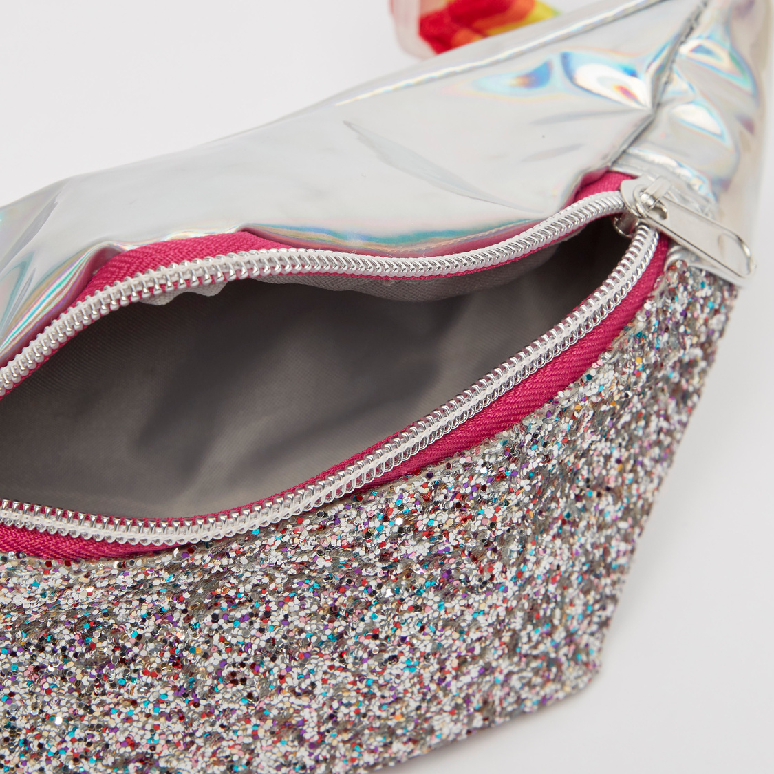 Embellished Fanny Pack with Adjustable Strap and Zip Closure