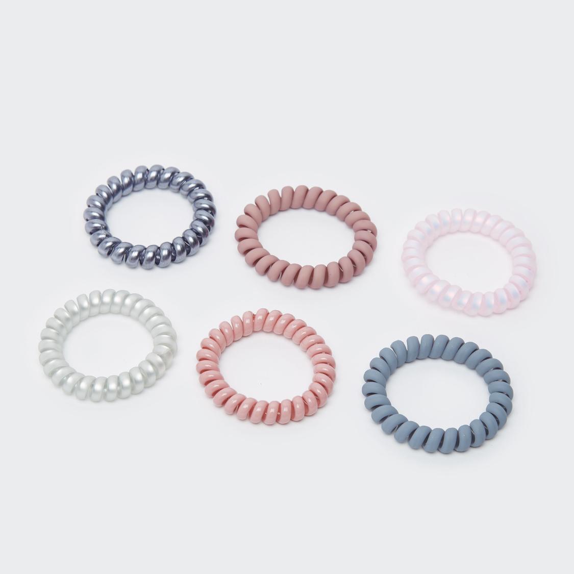 Set of 6 - Spiral Elastic Round Bands