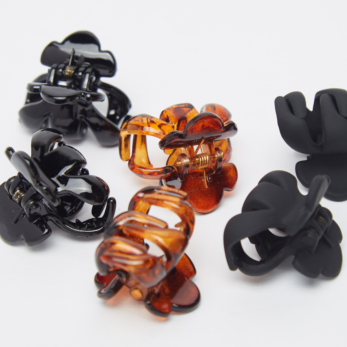 Set of 6 - Hair Clamps with Cutouts