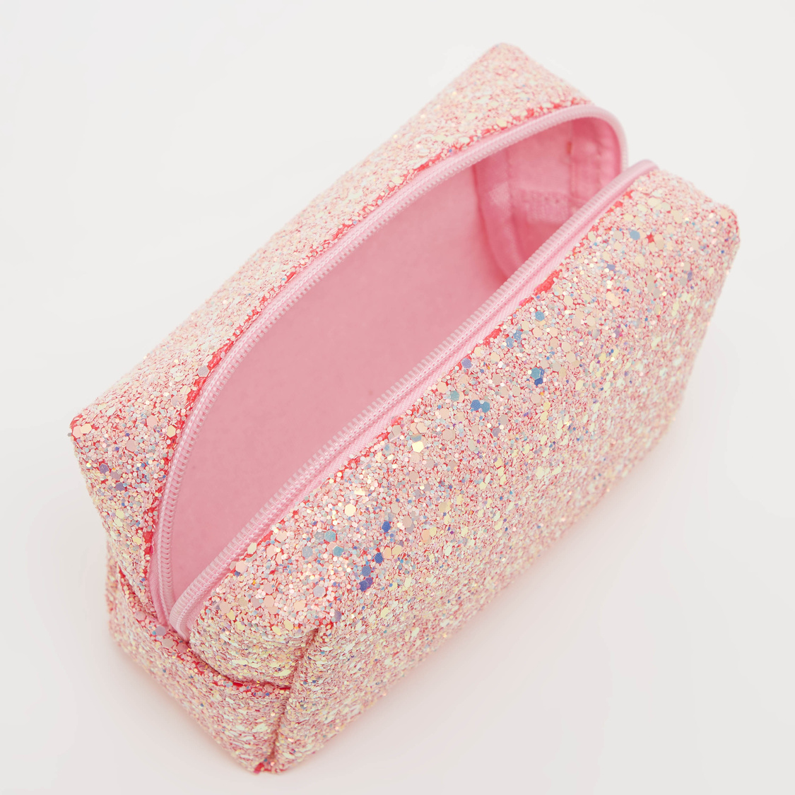 Embellished Pouch with Zip Closure