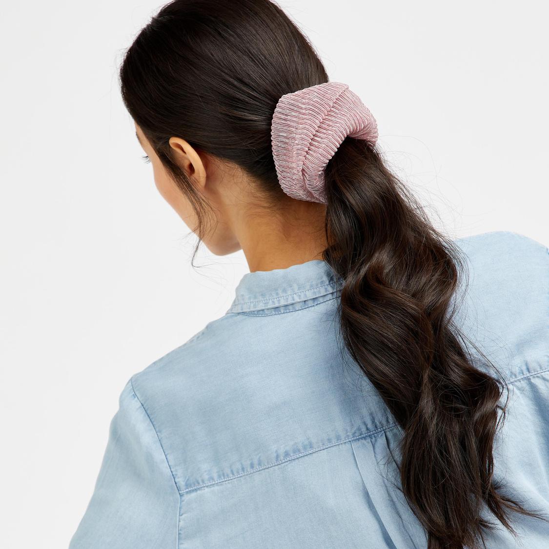 Set of 2 - Textured Round Elastic Hair Tie