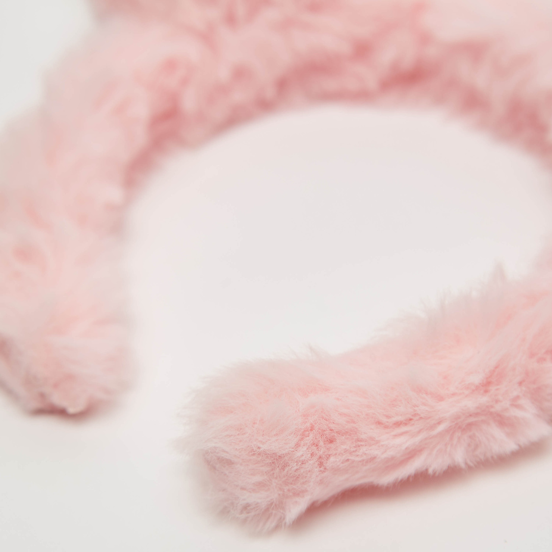 Plush Hairband with Kitty Applique