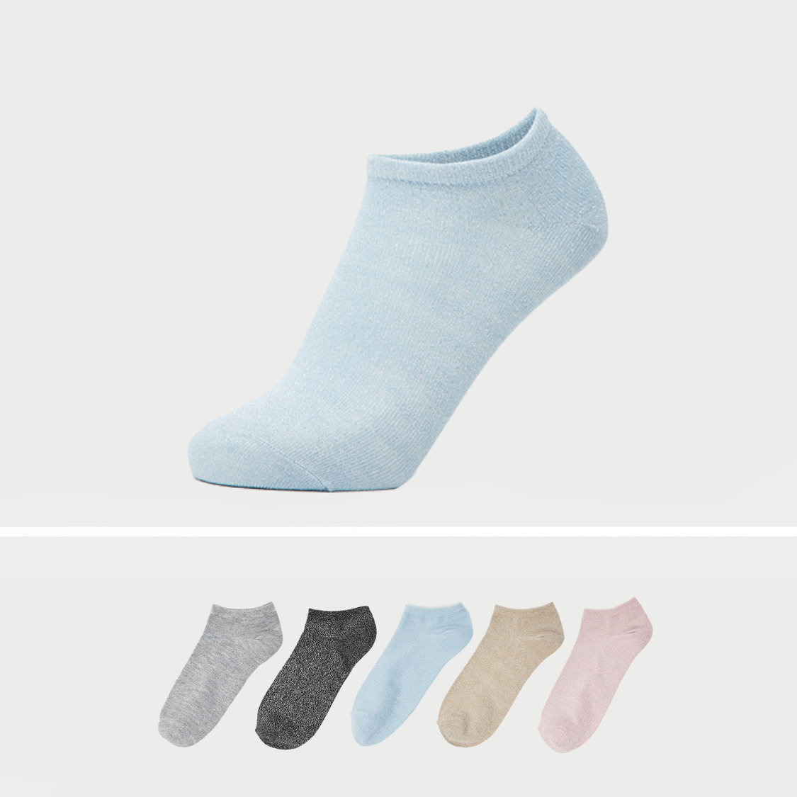 Set of 5 - Ankle Length Socks