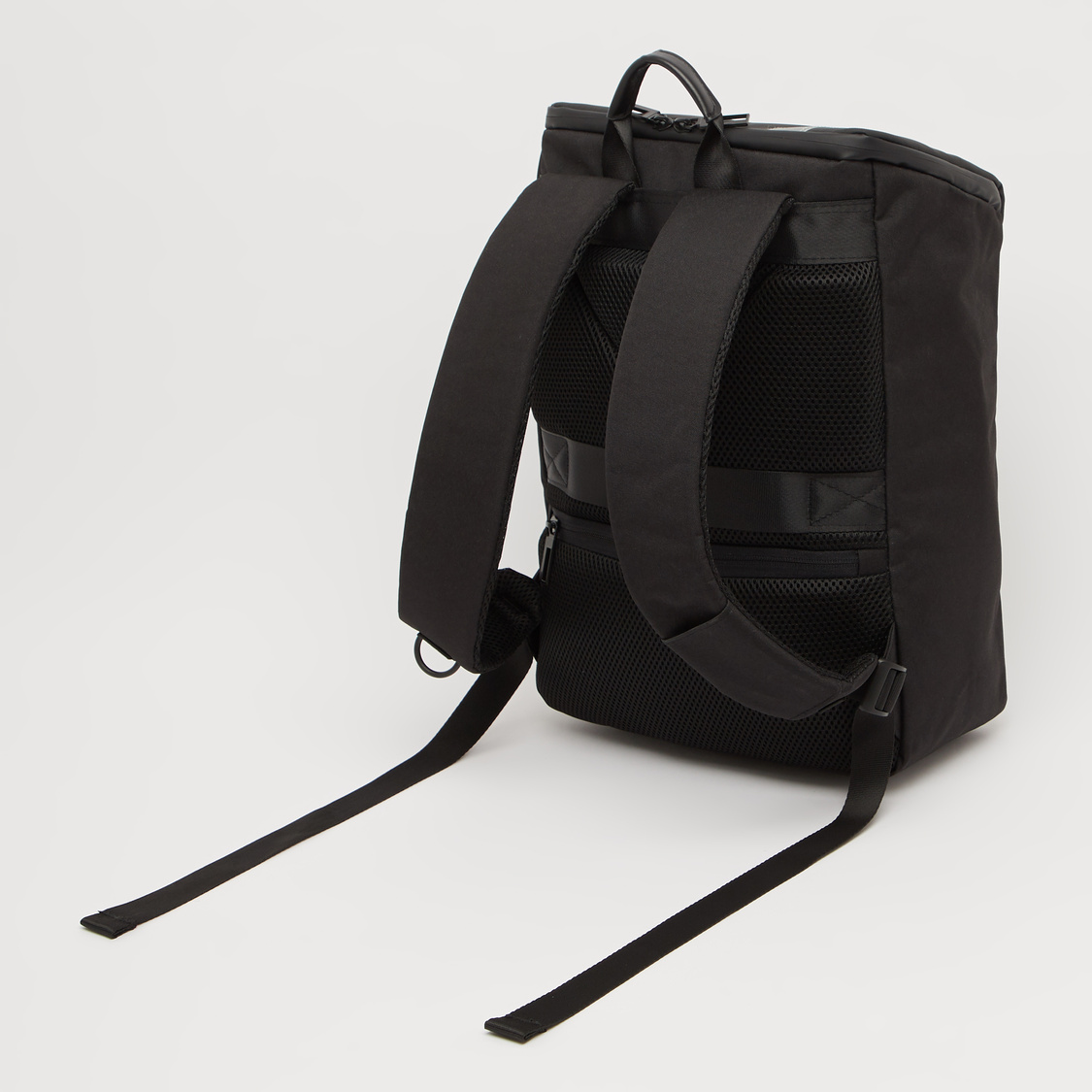 Solid Backpack with Adjustable Shoulder Straps and USB Port - 16 Inches
