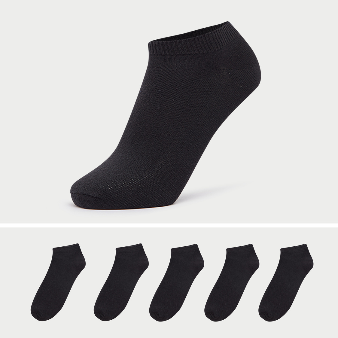 Set of 5 - Solid Ankle Length Socks