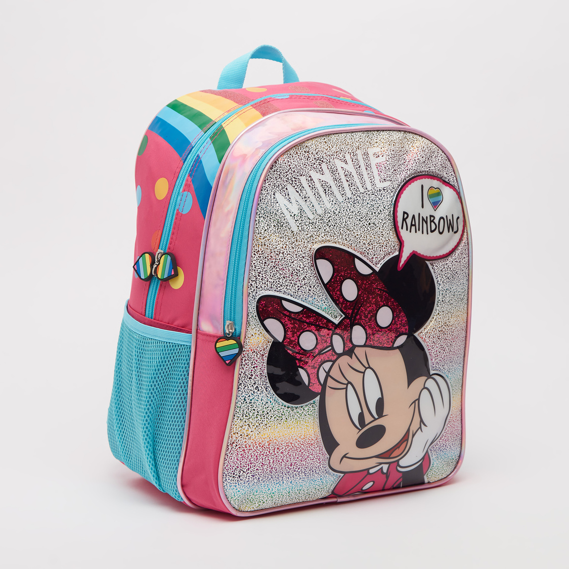 Minnie Mouse Print Backpack with Adjustable Straps