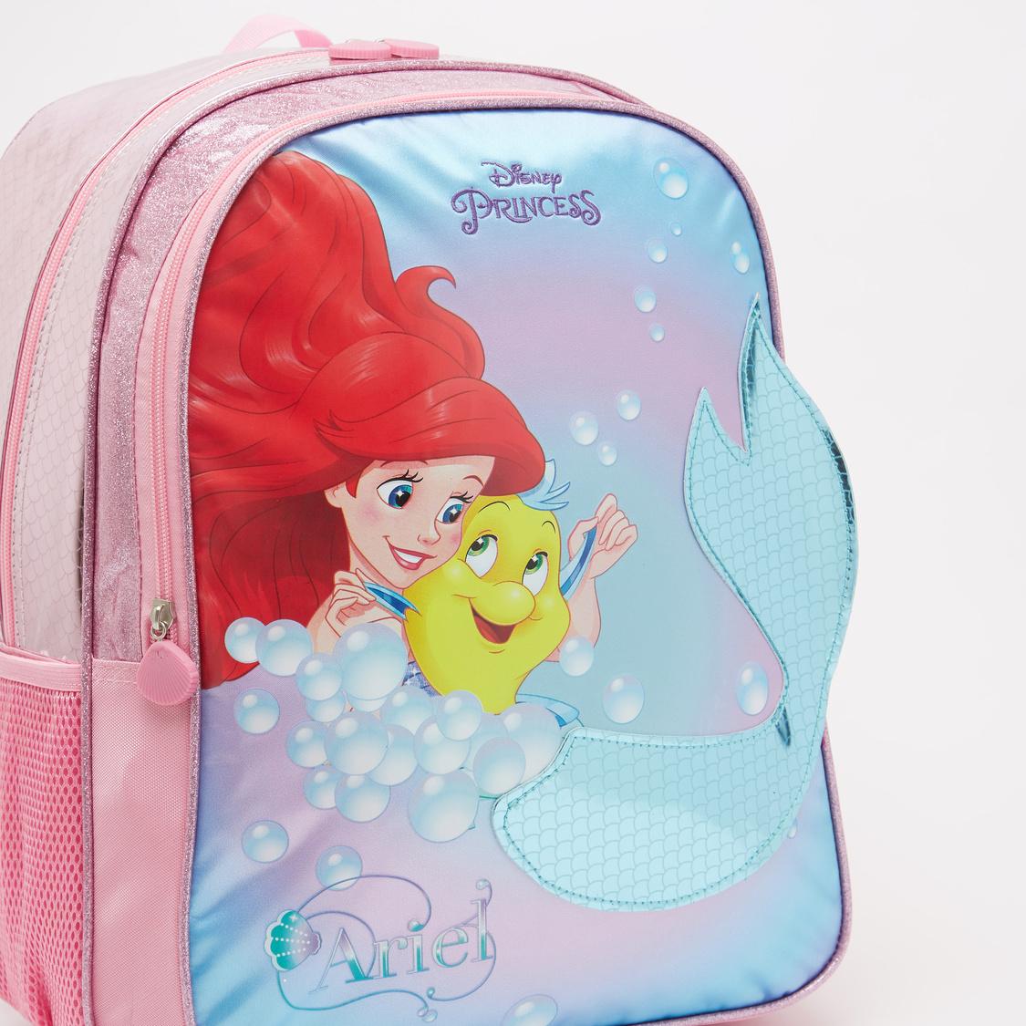 Princess Print Backpack with Adjustable Shoulder Straps - 16 Inches