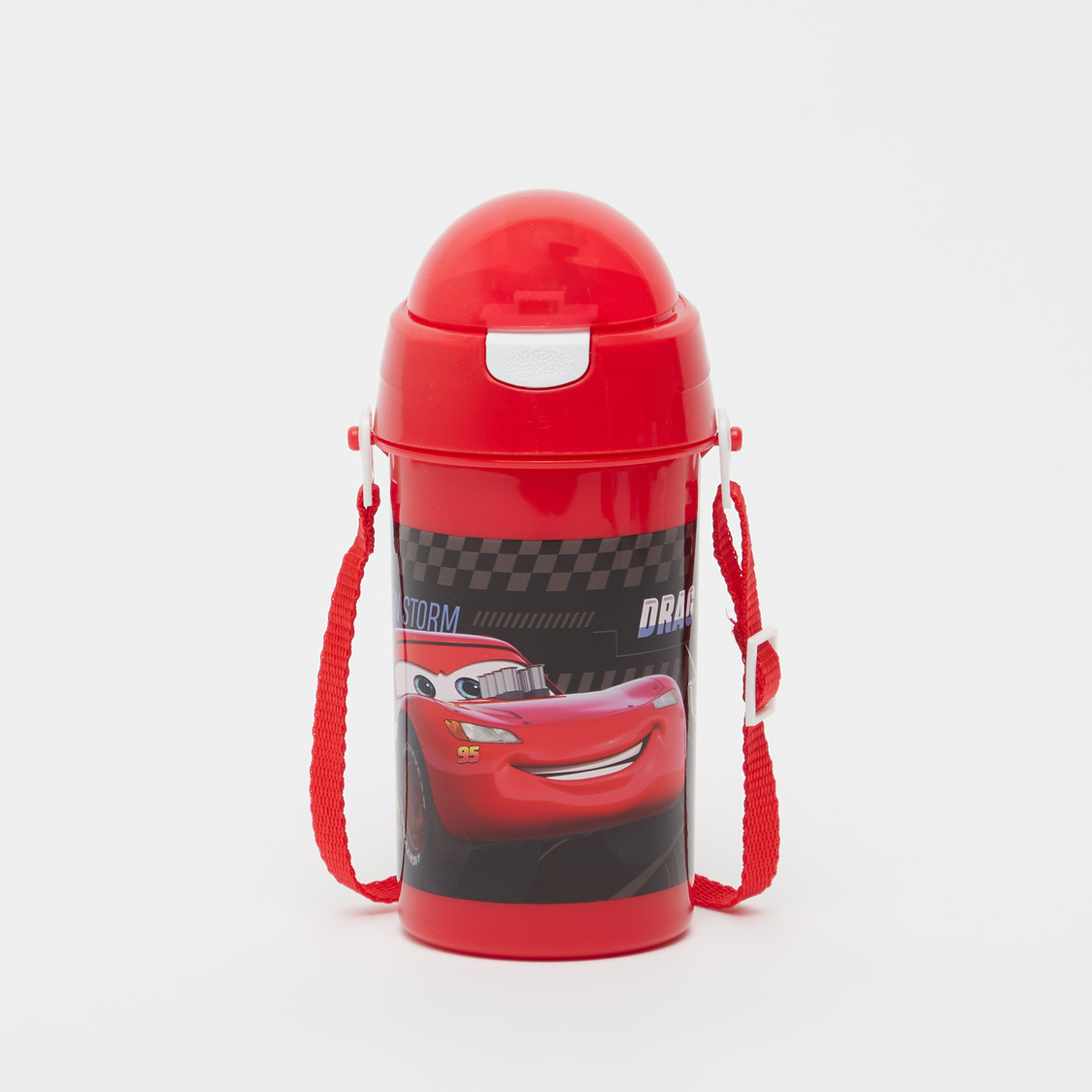 Cars Print Water Bottle with Adjustable Strap - 500 ml
