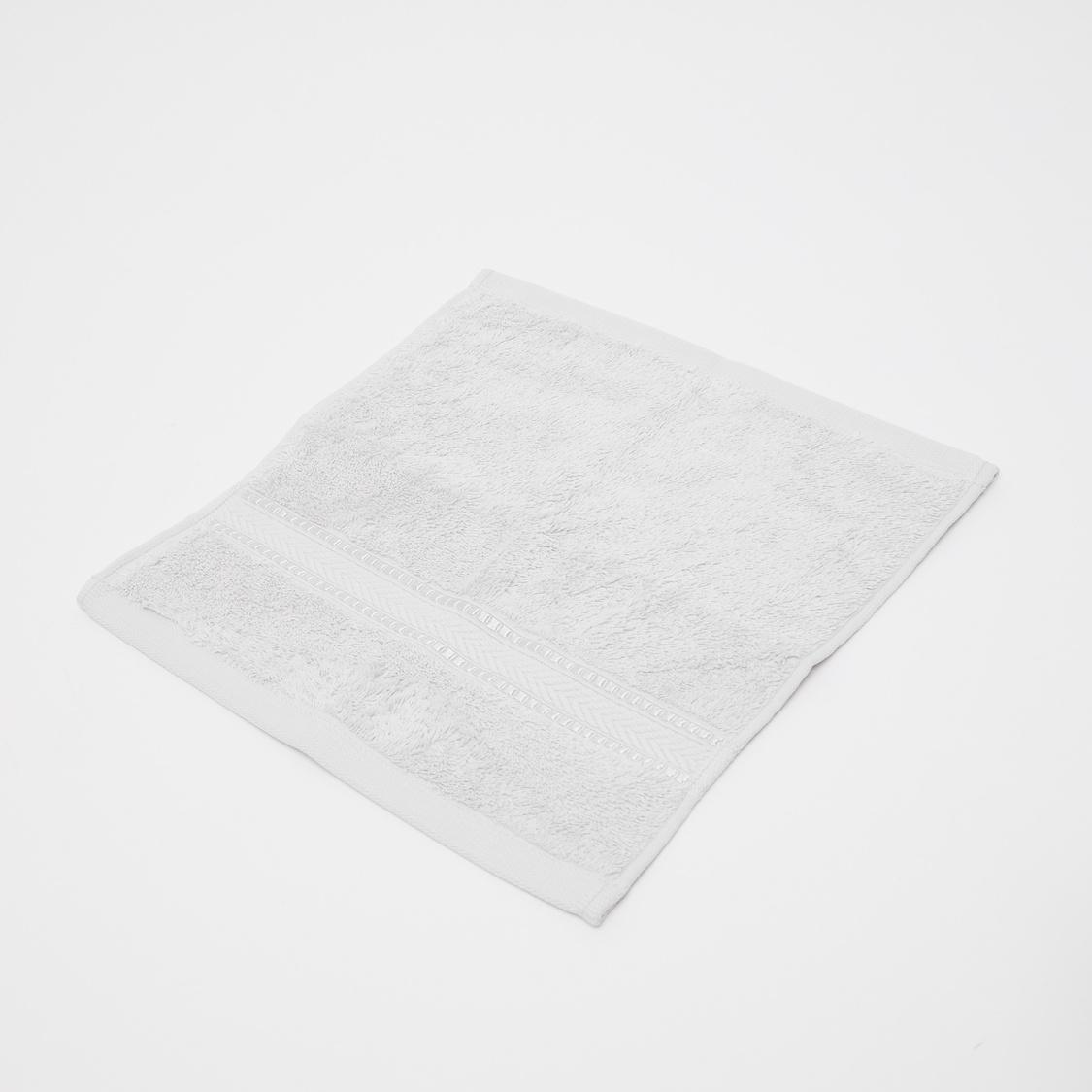 Set of 4 - Textured Egyptian Cotton Face Towel - 30x30 cms