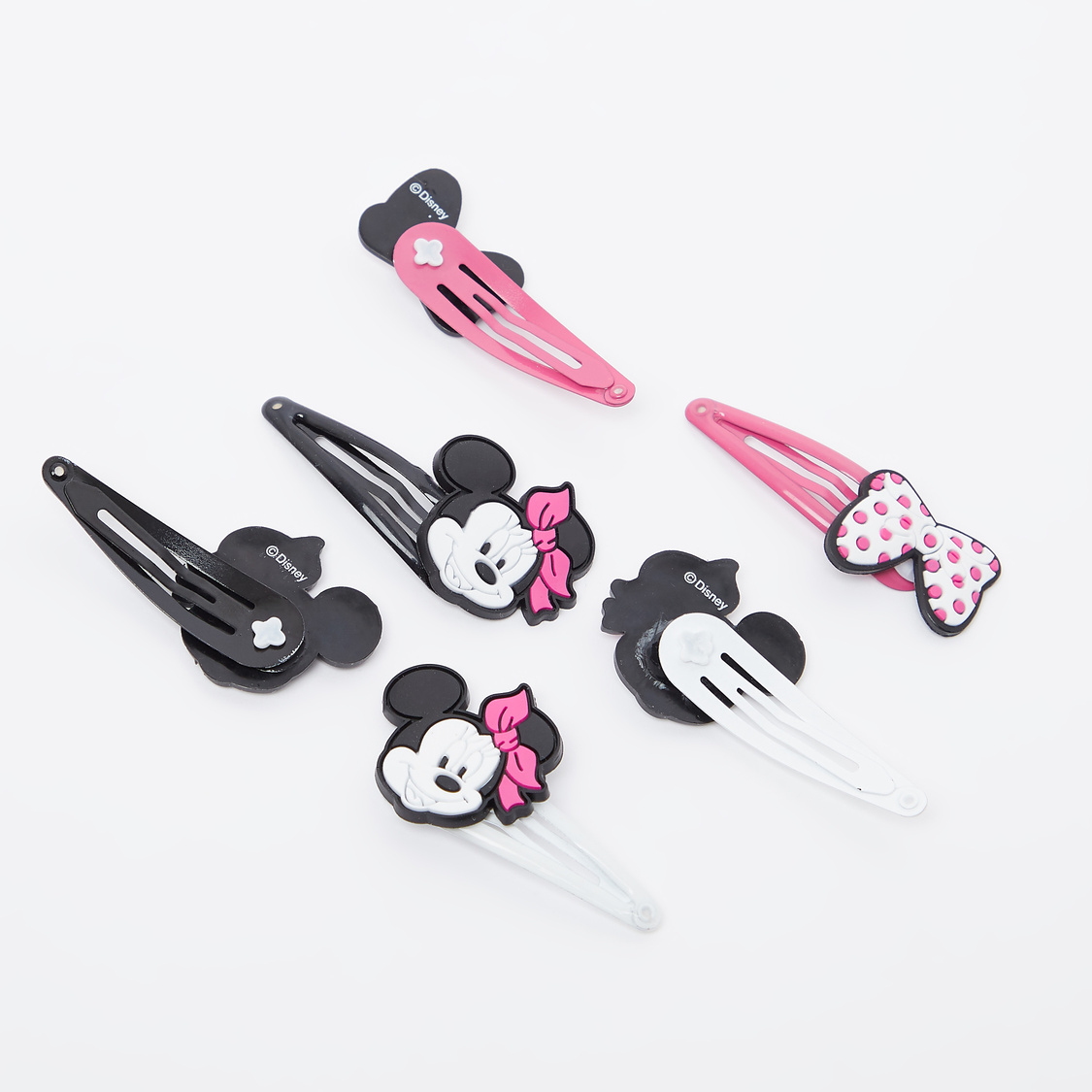 Set of 6 - Minnie Mouse Applique Detail Hair Clips