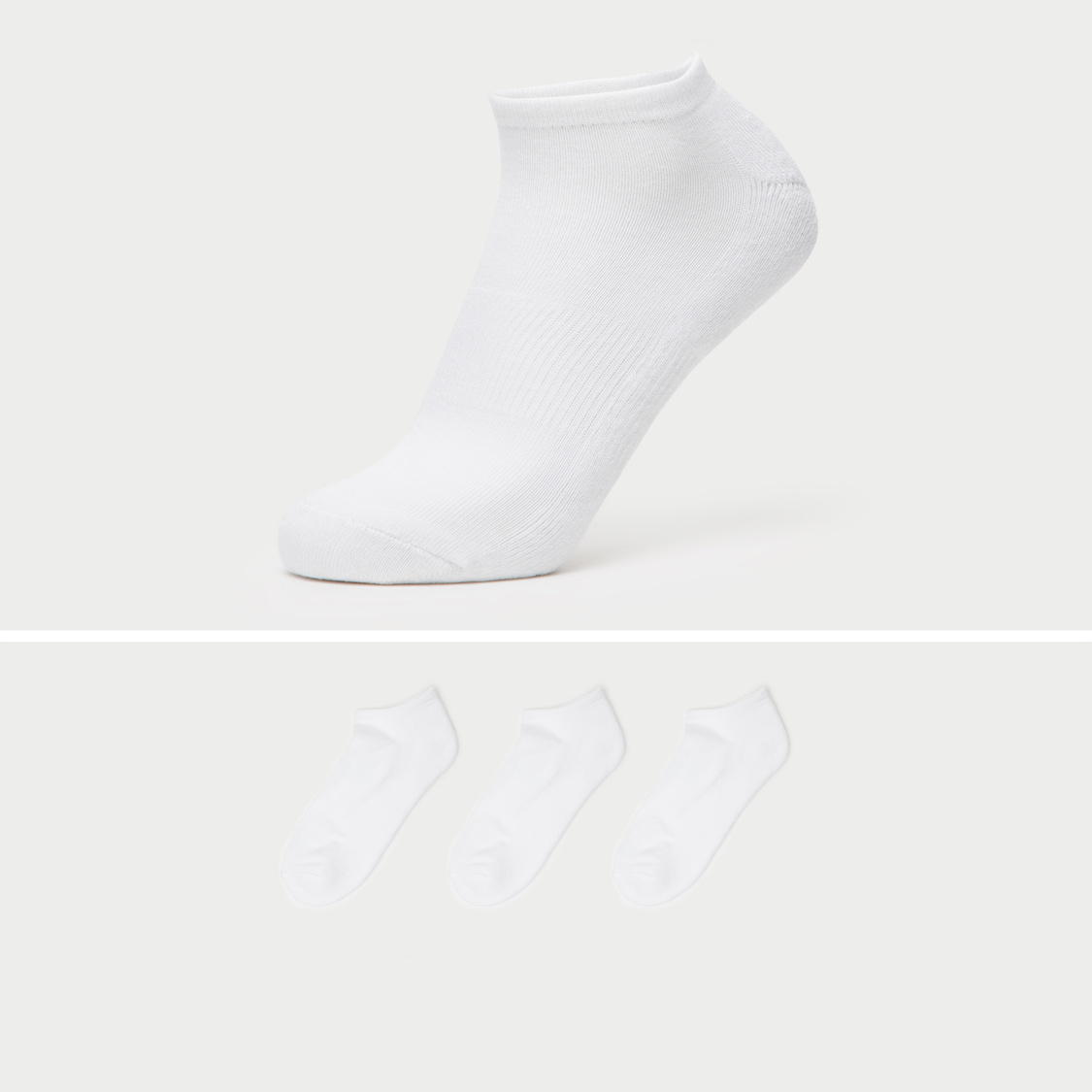Set of 3 - Solid Ankle Length Socks