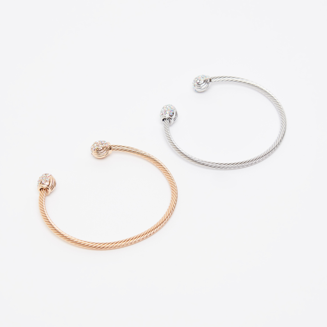 Set of 2 - Embellished Open Cuff Bangles