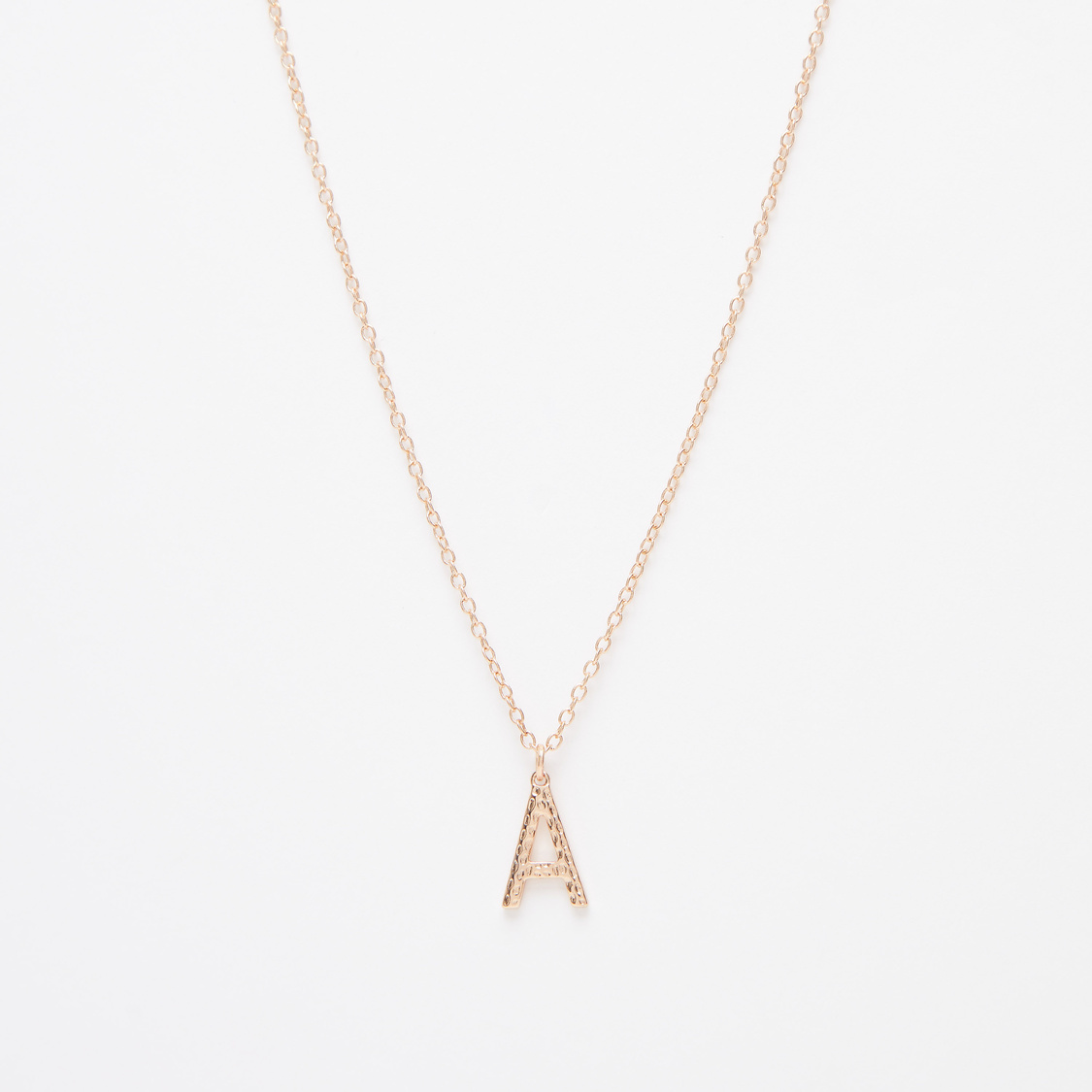Multi-Layered Necklace with Alphabet Accents and Lobster Clasp Closure