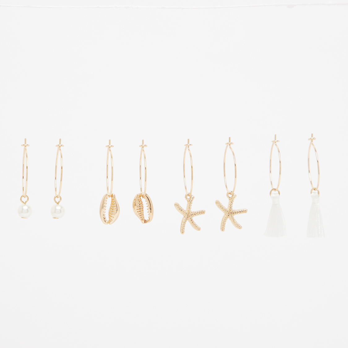 Set of 4 - Assorted Hoop Earrings