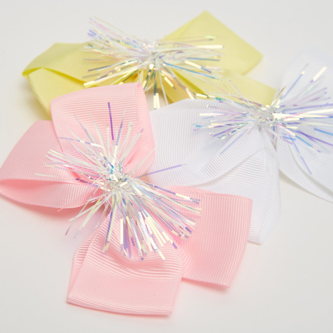 Set of 3 - Bow Shaped Hair Clip