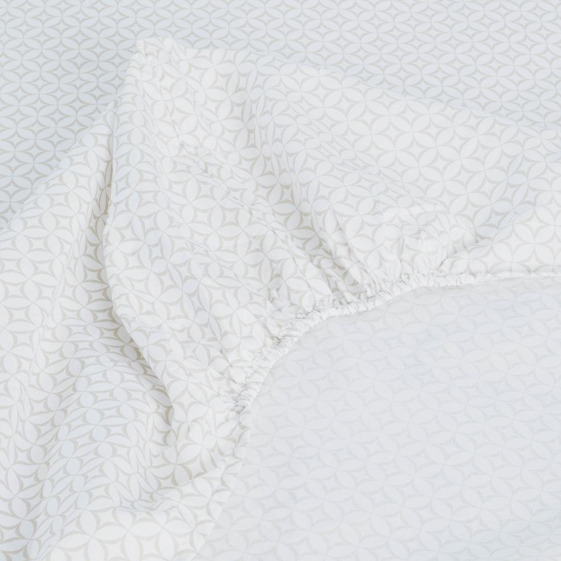 طقم مفروشات سرير 3 قطع بطبعات - 200x150 سم