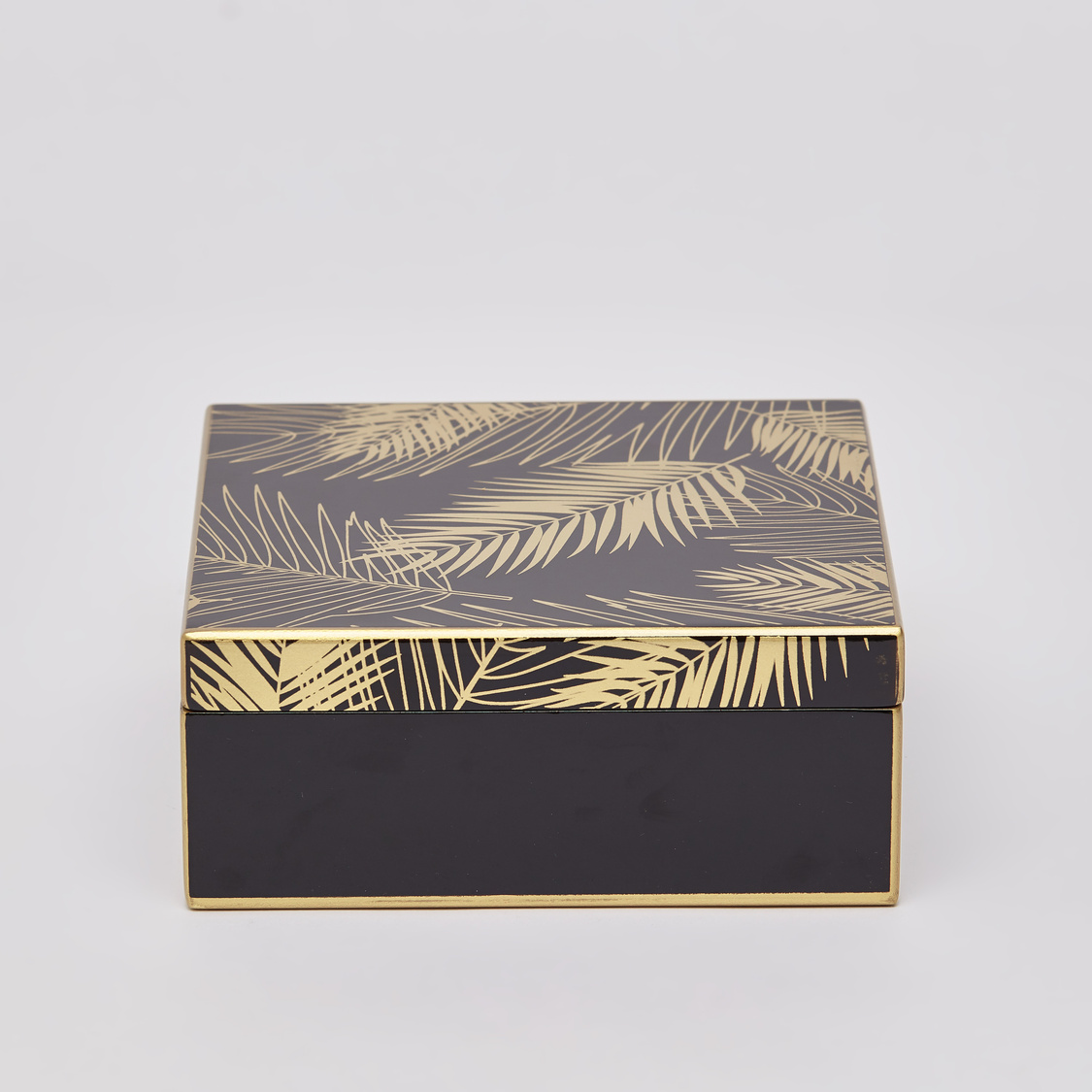 Leaf Print Decorative Box - 17x17x7 cms