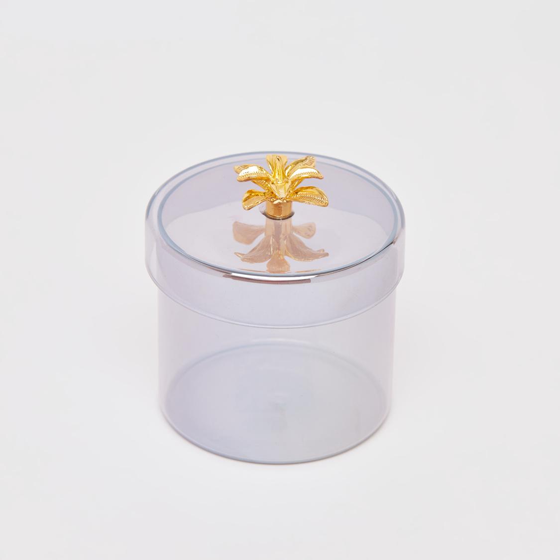 Glass Jewellery Box with Lid - 9.5x10 cms