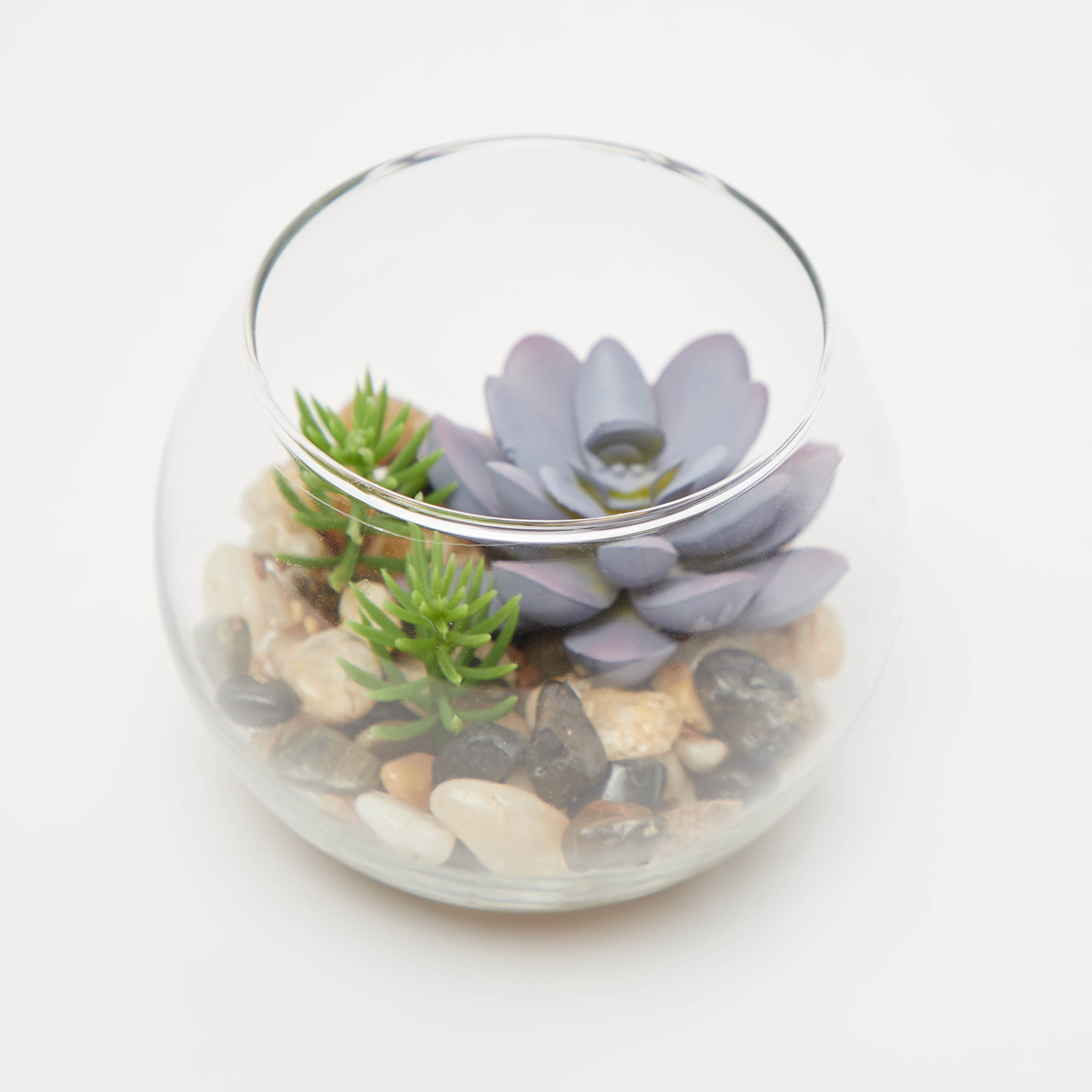 Artificial Plant with Round Vase