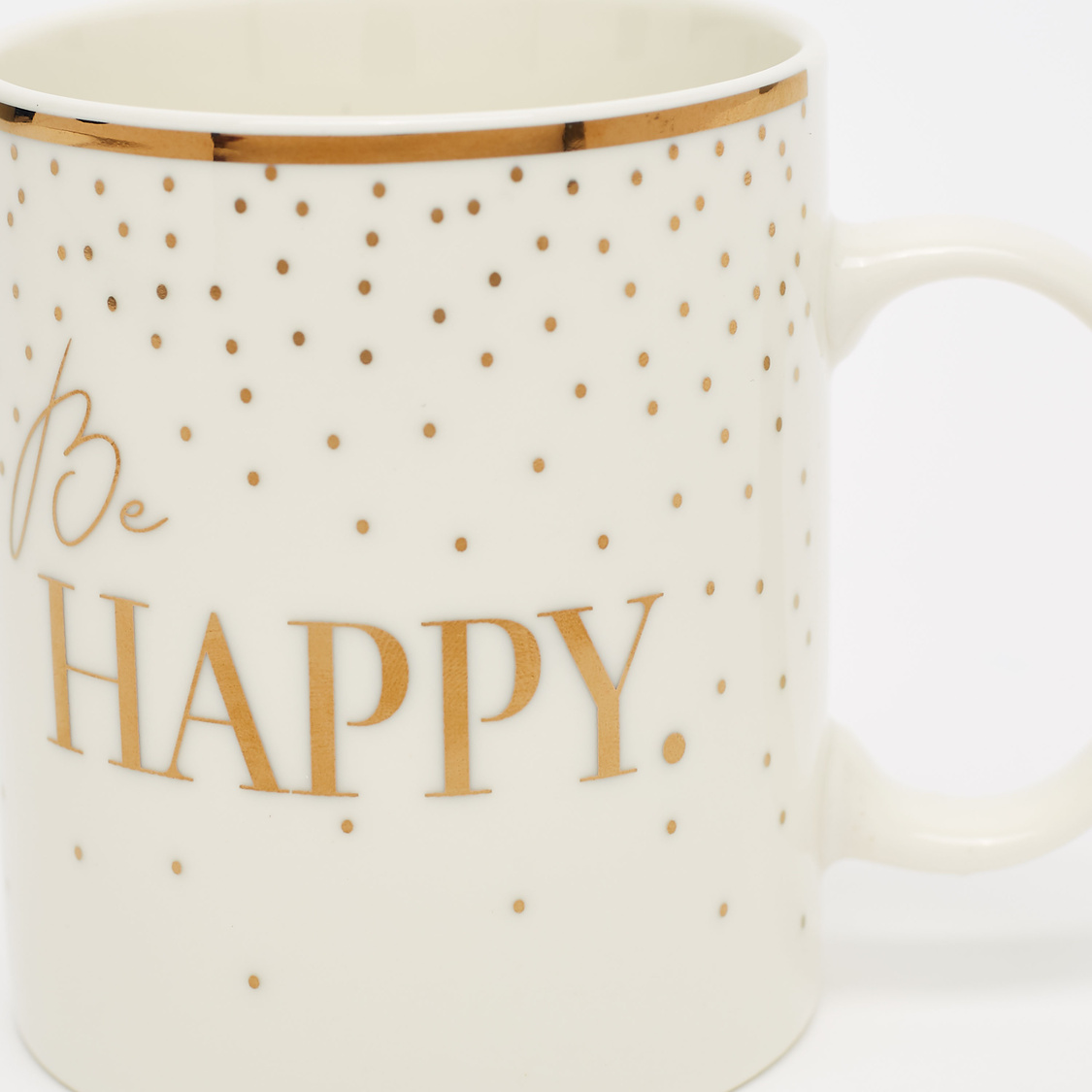 Slogan Print Mug with Curved Handle