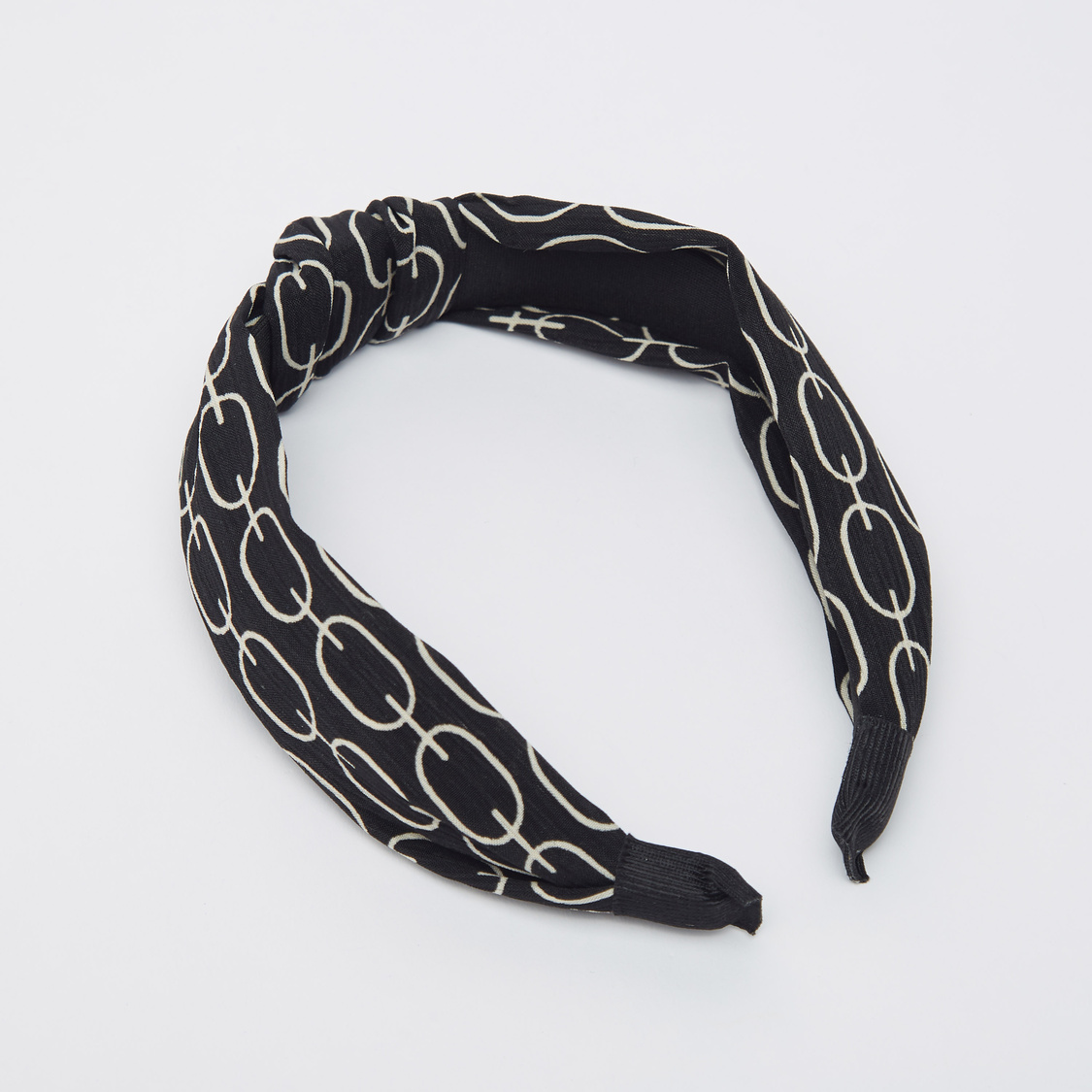 Printed Hairband with Knot Detail