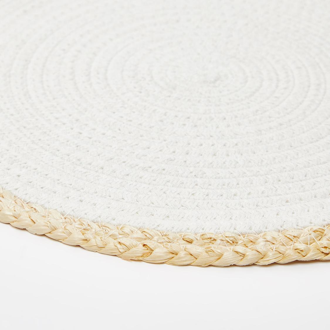 Textured Round Placemat - 38 cms
