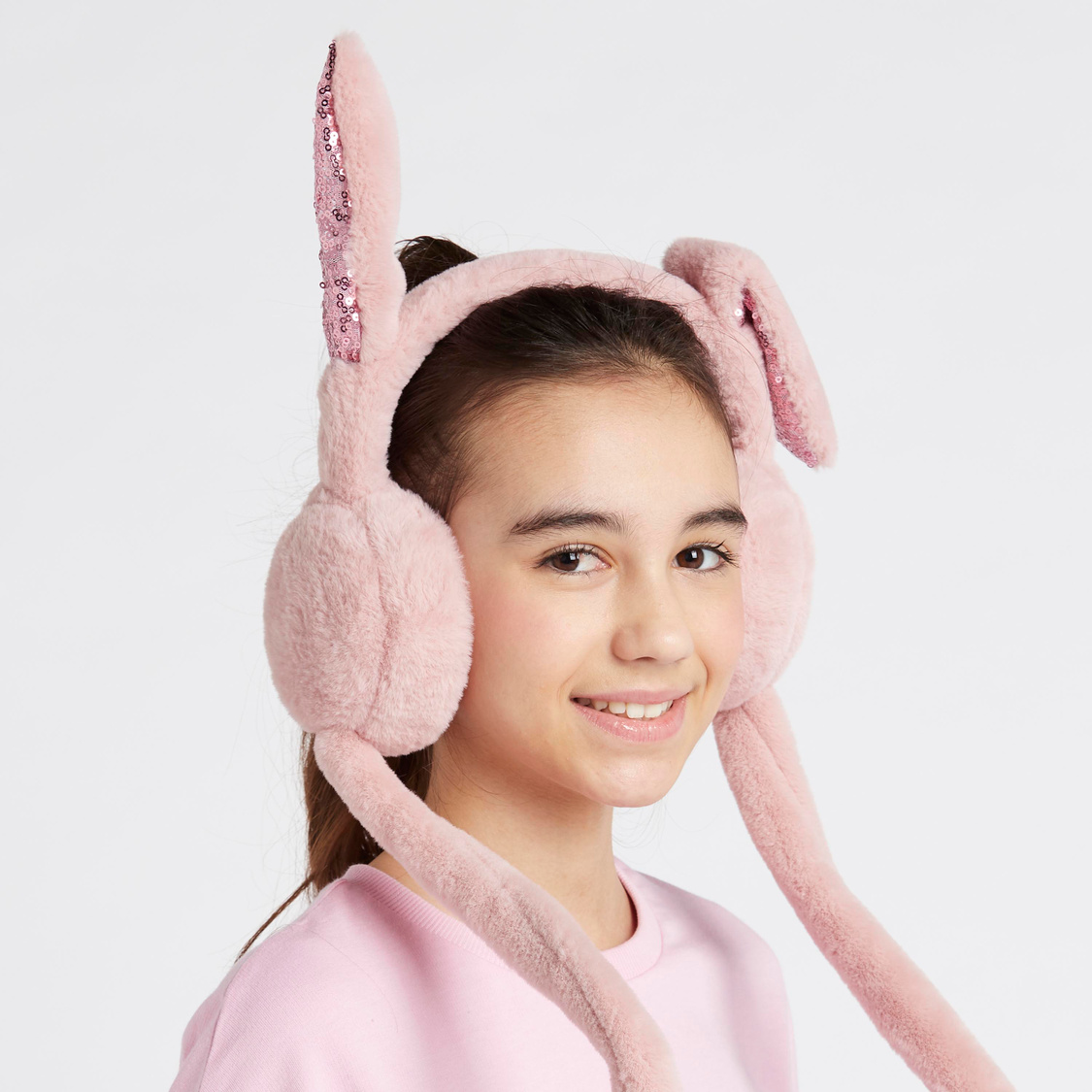 Plush Earmuff with Embellished Applique Detail