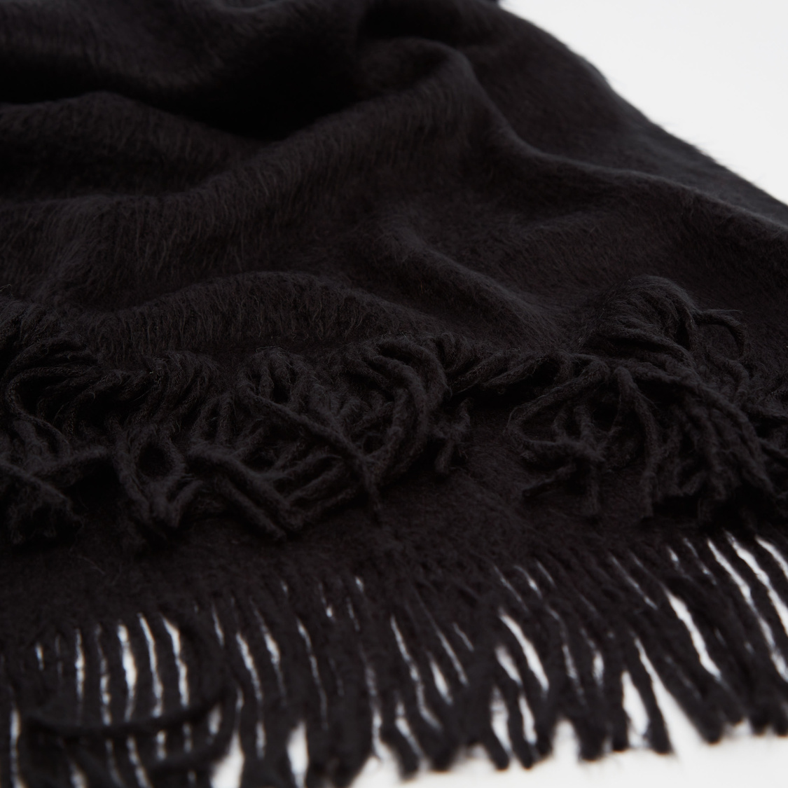 Solid Scarf with Fringes